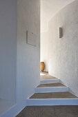 Stone steps in corridor