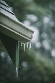 Icicles hanging from guttering