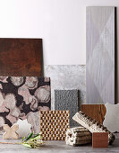 Different floor coverings in gray and natural tones