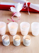 Different white tealight holders