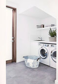 Washing machines in utility room