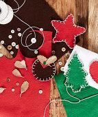 DIY-Weihnachtsdekoration aus Filz