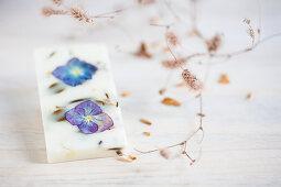 Flowers in block of wax