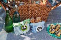 Hand-sewn picnic bags