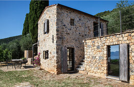 Rustic, Italian stone house with terrace and garden