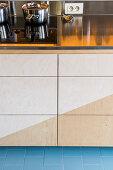 Kitchen base units, worksurface and hob