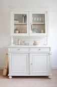 White-painted shabby-chic dresser