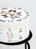 Hatbox with butterfly motifs
