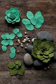 DIY succulents made of felt