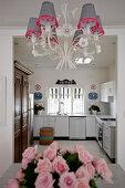 White, L-shaped kitchen counter