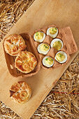 Pork pies and devilled eggs