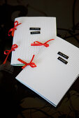 Handmade songbooks of Christmas songs