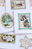 Greetings cards with nostalgic Christmas motifs