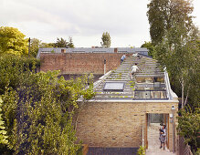 Elevated view of green roof