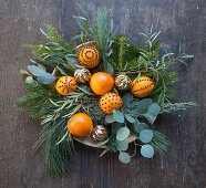 Branches decorated with pomanders