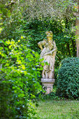 Statue of Pallas Athene in the garden