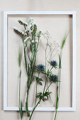 Flowers in picture frame