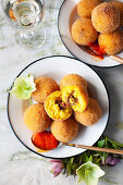 Arancini with meat
