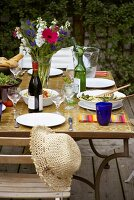 Table laid for a garden party