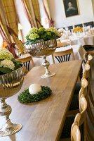 Tischdekoration in einem Restaurant