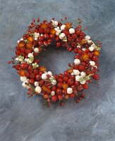Wreath of rose hips
