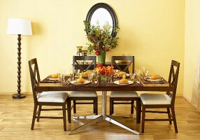 Set Holiday Dining Table in Dining Room