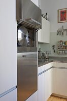 Modern kitchen with white units