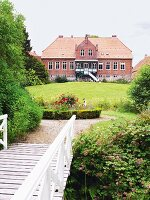 A view of the main building at Gut Kriesby, Schleswig-Holstein