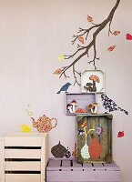 Hand-crafted, autumnal wall decoration