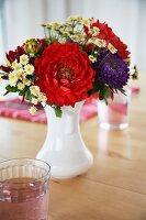 Summer bouquet on kitchen table