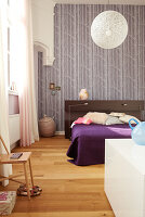 Modern bedroom furniture in a traditional atmosphere