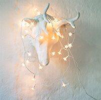 Christmas fairy lights on antlers