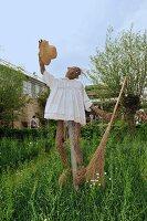 Scarecrow in garden