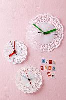 Doily clocks
