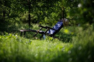 Deckchair amongst the greenery