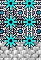 Blue snowflake pattern (print)