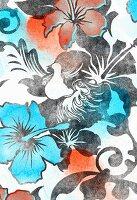 Hibiscus flower pattern (print)