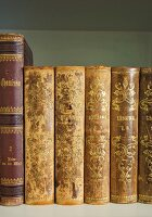 Antiquarian books in open bookcase