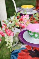 Summery set table