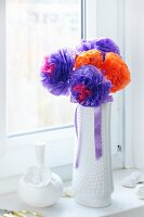 Bouquet of pompom flowers
