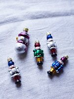 Nutcracker and snowman Christmas tree decorations