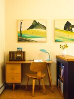 Home office with desk