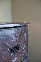 Detail shot of drawer handle; California; USA
