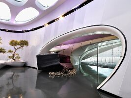 Interior of Chanel Mobile Art Pavilion; Hong Kong; China; Asia