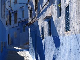 Blue alleys in the Medina of Chefchaouen, Morocco