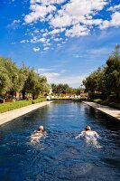 Beldi Country Club, hotel complex and the outskirts of Marrakesh, Morocco, public pool