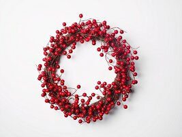 Festive wreath of berries