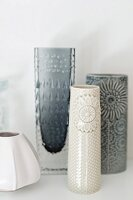 Collection of retro vases in shades of white and grey