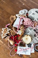 Various utensils for wrapping & decorating Christmas gifts