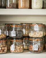 Labelled storage jars